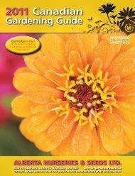 2011 Canadian Gardening Guide - Alberta Nurseries Presents ...