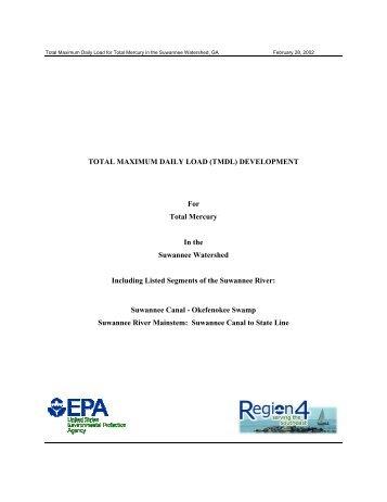 Suwannee River Mercury TMDL - Georgia Environmental Protection ...