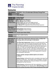 Meeting Note - National Infrastructure Planning - Planning Portal