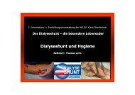 Dialyseshunt und Hygiene