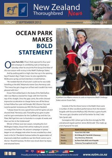 Ocean Park (NZ) - New Zealand Thoroughbred Marketing