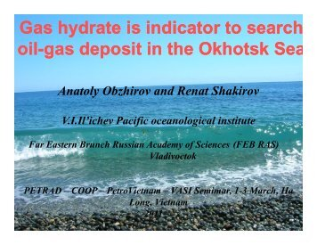 Gas hydrate indicators to search gas hydrate and - CCOP
