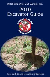 2010 Excavator Guide - Oklahoma One-Call System, Inc.