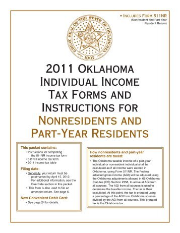 2011 Oklahoma Individual Income Tax Forms and Instructions for ...