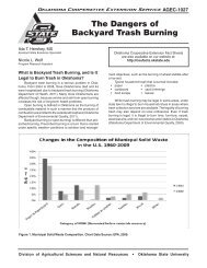 The Dangers of Backyard Trash Burning - OSU Fact Sheets ...