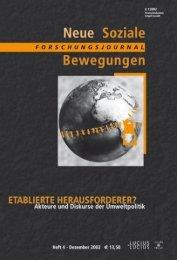 Vollversion (7.42 MB) - Forschungsjournal Soziale Bewegungen