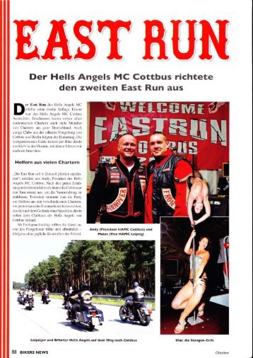 Der Hells Angels MC Cottbus richtete