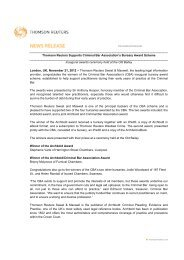 Thomson Reuters Supports Criminal Bar ... - Sweet & Maxwell