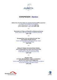 VORSPEISEN / Starters