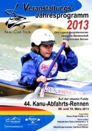 2013_Fuldarennen_Gesamtstartliste - Kanu-Club-Fulda eV