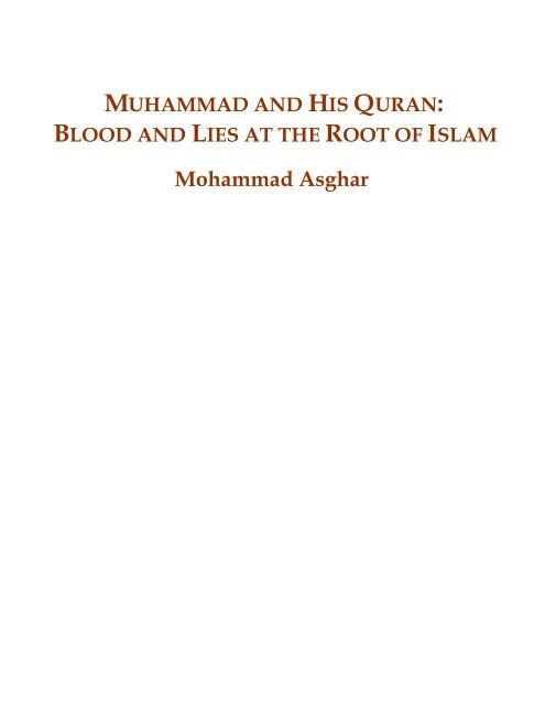 Muhammad and His Quran - Islam-Watch