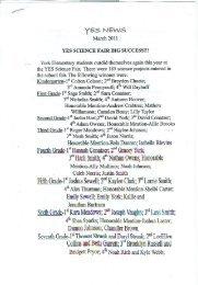 YES SCIENCE FAIR BIG SUCCESS!!! - Fentress County Schools