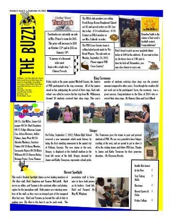 The Buzz 9-14-12 - Pelham City Schools