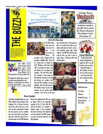The Buzz 8-17-12 - Pelham City Schools