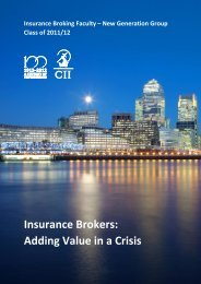 Insurance Brokers: Adding Value in a Crisis - The Chartered ...