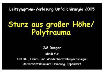 Symptomvorlesung Sturz und Polytrauma - Universitätsklinikum ...