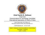 Chief Harlin R. McEwen Chairman Communications ... - Ltfiore.com