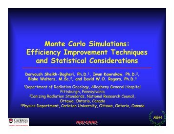 Monte Carlo Simulations: Efficiency Improvement Techniques and ...