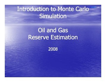 Download Monte Carlo Oil And Gas Reserve Estimation - Lumenaut