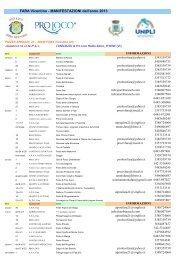 Calendario Manifestazioni Anno 2013 - Comune di Fara Vicentino