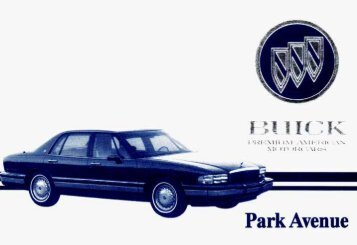 1993 buick park avenue owners manual gm extended warranty rh yumpu com 2000 buick regal gs owners manual 2005 Buick Regal