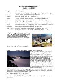 Hochtour Monte Adamello 18.08. – 23.08.2011 - DAV Sektion ...