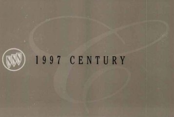 1997 Buick Century Owners Manual - GM Extended Warranty