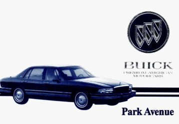 1994 buick park avenue owners manual gm extended warranty rh yumpu com 2005 Buick Riviera 1996 Buick Riviera