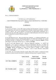 Prot. n. 13928 del 01/08/2011 AVVISO - Comune di Montefiascone