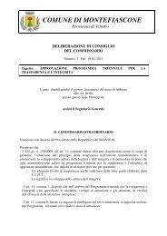 delibera di approvazione - Comune di Montefiascone