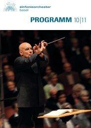 PROGRAMM 10|11 - beim Sinfonieorchester Basel
