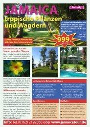 Tropische Pflanzen und Wandern, 15 Tage, € 999