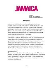 Montego Bay - Jamaica Tourist Board