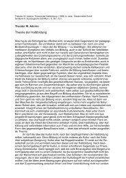 Theodor W. Adorno: Theorie der Halbbildung