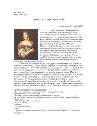 FRAN 4002 Mme de Sévigné Lettres - A MADAME DE GRIGNAN A ...