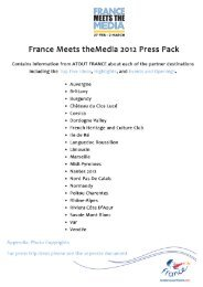France Meets the Media 2012 press pack