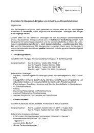 Checkliste für Baugesuch-Eingaben von ... - Gemeinde Sirnach