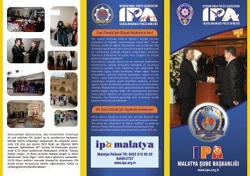 Malatya tanıtım broşürü - Uluslararası Polis Birliği (IPA)