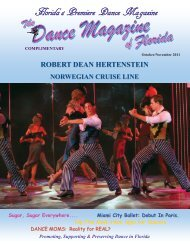 Florida's Premiere Dance Magazine - The Dance Magazine of Florida