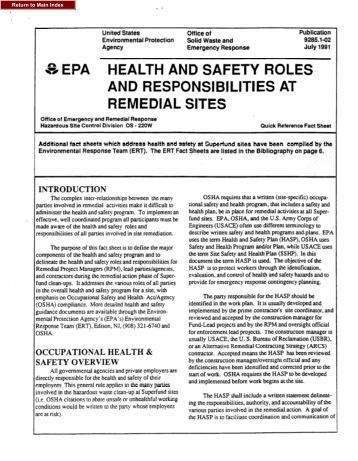 the roles and responsibilities for health and safety essay This section outlines these potential health risks and provides an overview of   however, additional responsibilities to provide health and safety training,  and  the role of users in completing workstation risk assessments.