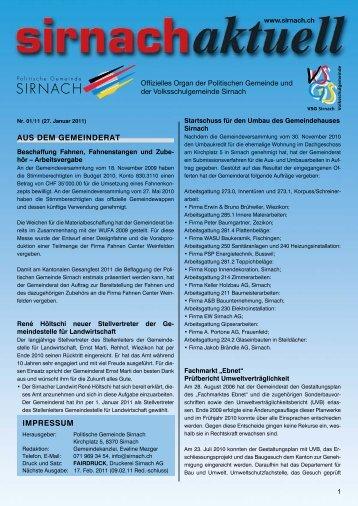 Herzliche Einladung - Gemeinde Sirnach