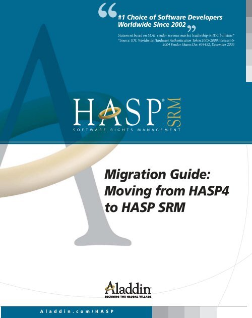 Migration Guide: Moving from HASP4 to HASP SRM