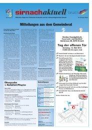 gemeindezentrum dreitannen ȁ samstag, 05 ... - Gemeinde Sirnach