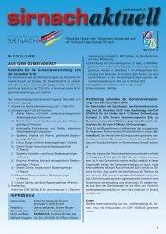 Sirnachaktuell 2011 Erscheinungsdatum ... - Gemeinde Sirnach