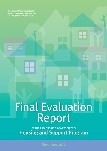 Housing and Support Program (HASP): Final Evaluation Report