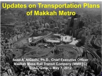 Updates on Transportation Plans of Makkah Metro - Fleming Gulf