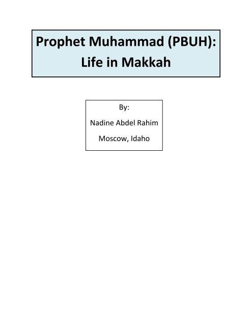 Prophet Muhammad (PBUH): Life in Makkah