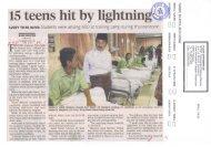 15 teens hit by lightnin - Kementerian Pelajaran Malaysia