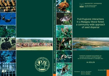 Fruit-frugivore interactions in a Malagasy littoral forest - Universiteit ...