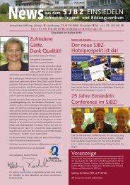 |S|J|B|Z| EINSIEDELN - Schweizer Jugend- und Bildungszentrum